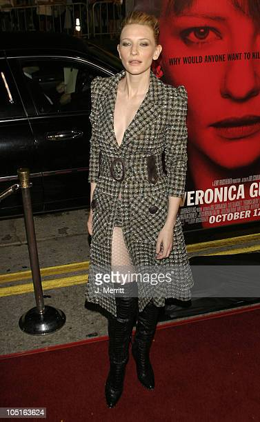 Cate Blanchett during 'Veronica Guerin' Los Angeles Premiere at The Bruin Theatre in Westwood California United States
