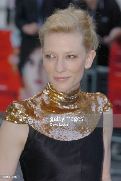 """Cate Blanchett during """"Volver"""" London Premiere - Outside Arrivals at Curzon Mayfair in London, Great Britain."""