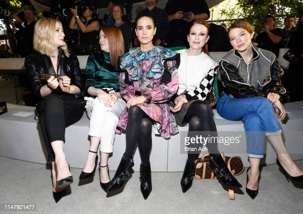 Cate Blanchett, Emma Stone, Jennifer Connelly, Julianne Moore and Lea Seydoux attend the Louis Vuitton Cruise 2020 Fashion Show at JFK Airport on May...