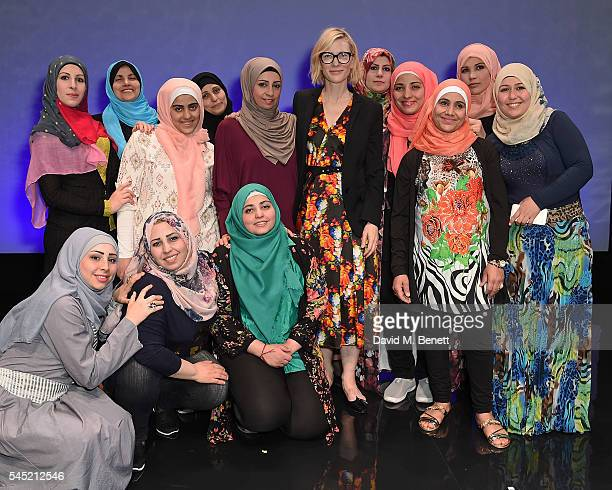 Cate Blanchett Goodwill Ambassador for UNHCR the UN Refugee Agency meets the cast of Queen of Syria opening tonight at the Young Vic The show tours...