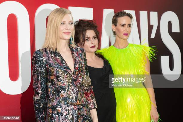 Cate Blanchett Helena Bonham Carter and Sarah Paulson attend 'Ocean's 8' World Premiere at Alice Tully Hall on June 5 2018 in New York City