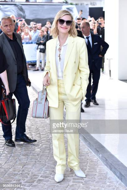 Cate Blanchett is seen arriving at Hotel Martinez during the 71st annual Cannes Film Festival at on May 7 2018 in Cannes France