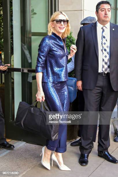 Cate Blanchett is seen leaving her hotel on May 24 2018 in New York New York