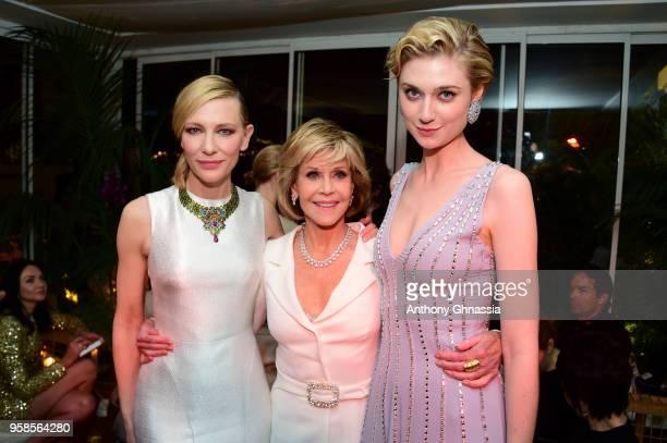 Cate Blanchett Jane Fonda and 2018 Trophee Chopard laureate Elizabeth Debicki attend the Trophee Chopard during the 71st annual Cannes Film Festival...