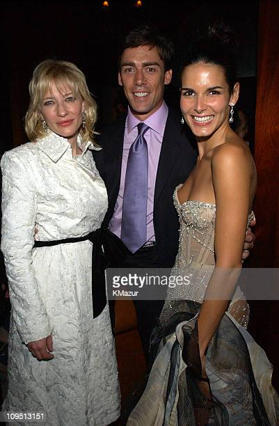 Cate Blanchett Jason Sehorn and Angie Harmon during 2002 VH1 Vogue Fashion Awards AfterParty at Hudson Cafeteria at Hudson Hotel in New York New York...