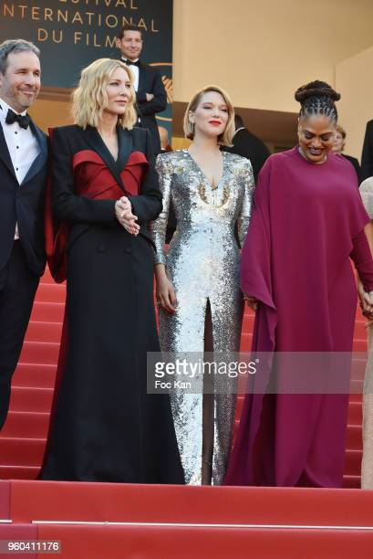 Cate Blanchett Lea Seydoux and Ava DuVernay attend the Closing Ceremony screening of 'The Man Who Killed Don Quixote' during the 71st annual Cannes...