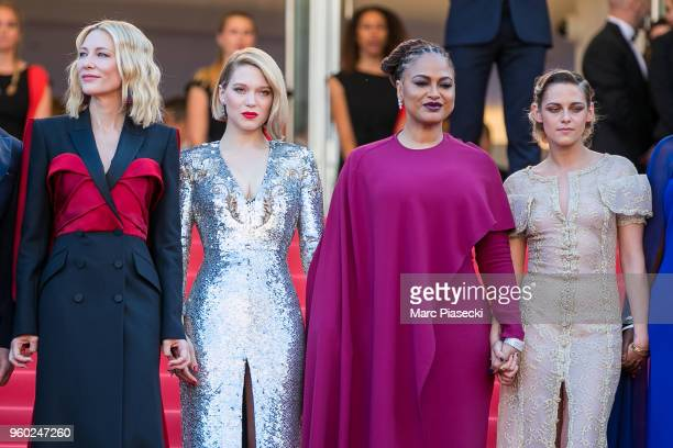 Cate Blanchett Lea Seydoux Ava DuVernay and Kristen Stewart attend the Closing Ceremony screening of 'The Man Who Killed Don Quixote' during the 71st...