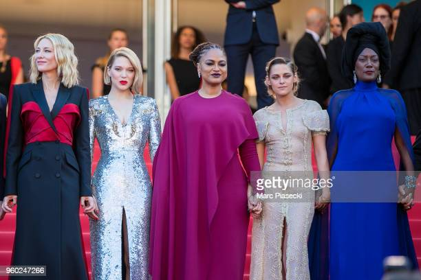 Cate Blanchett Lea Seydoux Ava DuVernay Kristen Stewart and Khadja Nin attend the Closing Ceremony screening of 'The Man Who Killed Don Quixote'...
