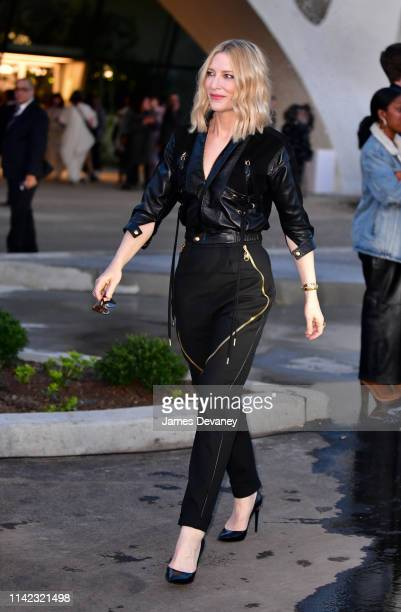 Cate Blanchett leaves the Louis Vuitton Cruise 2020 Fashion Show at JFK Airport on May 8, 2019 in New York City.