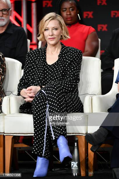 Cate Blanchett of 'Mrs America' speaks during the FX segment of the 2020 Winter TCA Tour at The Langham Huntington Pasadena on January 09 2020 in...