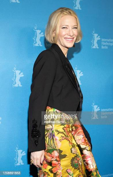 "Cate Blanchett pose at the ""Stateless"" premiere during the 70th Berlinale International Film Festival Berlin at Zoo Palast on February 26, 2020 in..."