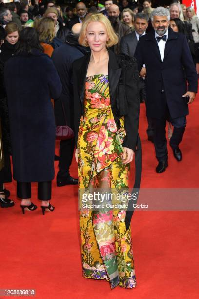 Cate Blanchett poses at the Stateless premiere during the 70th Berlinale International Film Festival Berlin at Zoo Palast on February 26 2020 in...
