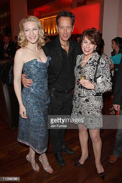 """Cate Blanchett, Richard E Grant and Kathy Lette attend the """"Elizabeth: The Golden Age"""" film premiere After Party at Skylon, Royal Festival Hall on..."""