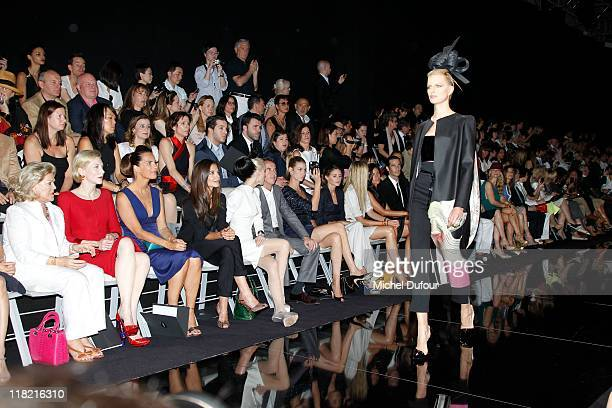 Cate Blanchett, Roberta Armani, Katy Holmes and Daphnee Guiness attend the Giorgio Armani Prive Haute Couture Fall/Winter 2011/2012 show as part of...