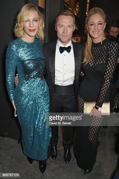 Cate Blanchett Ronan Keating and Storm Keating attend the IWC Schaffhausen Gala celebrating the Maison's 150th anniversary and the launch of its...