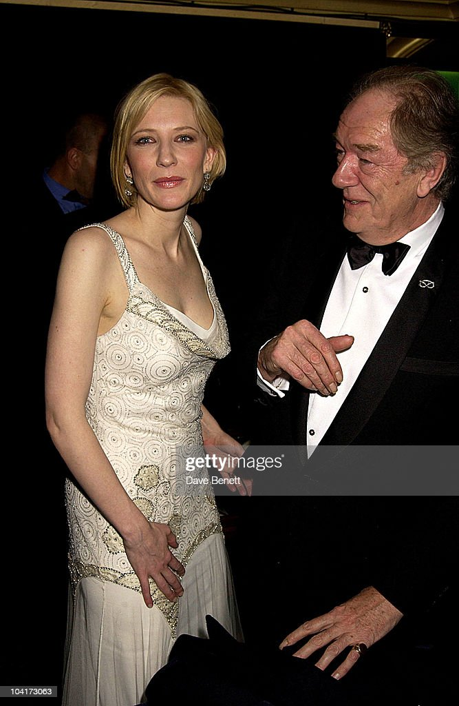 Cate Blanchette & Sir Michael Gambon, Royal Charity Premiere Of 'Charlotte Gray', Odeon Leicester Square, London
