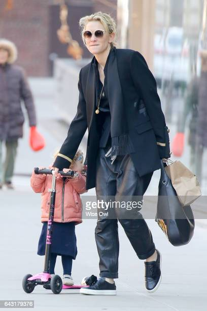 Cate Blanchett spotted with daughter Edith Vivian Patricia Upton on February 18, 2017 in New York City, USA.