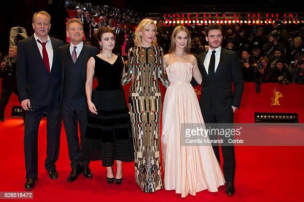 Cate Blanchett, Stellan Skargard, Kenneth Skargaed, Helen Bohman Carter, Lily James, Richard Madden during the photocall of the film Cinderella 65...