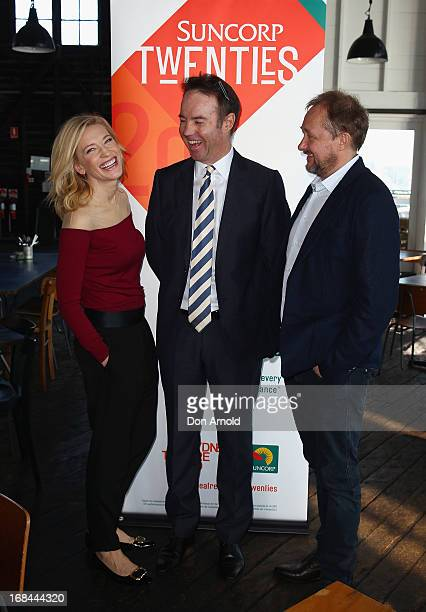 Cate Blanchett Suncorp CEO Geoff Summerhayes and Sydney Theatre Company Artistic Director Andrew Upton attend Sydney Theatre Company for the...