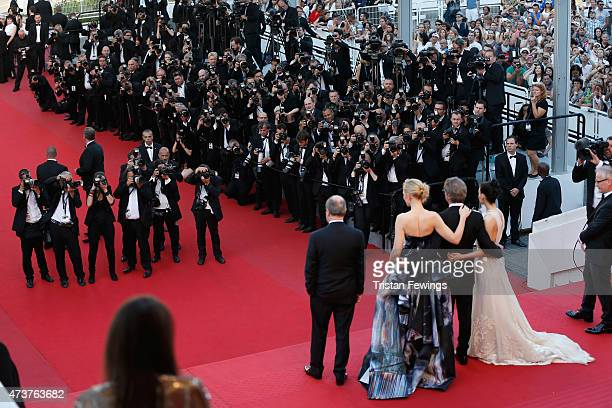 Cate Blanchett Todd Haynes and Rooney Mara attend the Premiere of Carol during the 68th annual Cannes Film Festival on May 17 2015 in Cannes France
