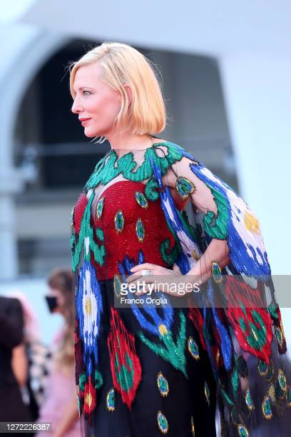 Cate Blanchett walks the red carpet ahead of closing ceremony at the 77th Venice Film Festival on September 12 2020 in Venice Italy