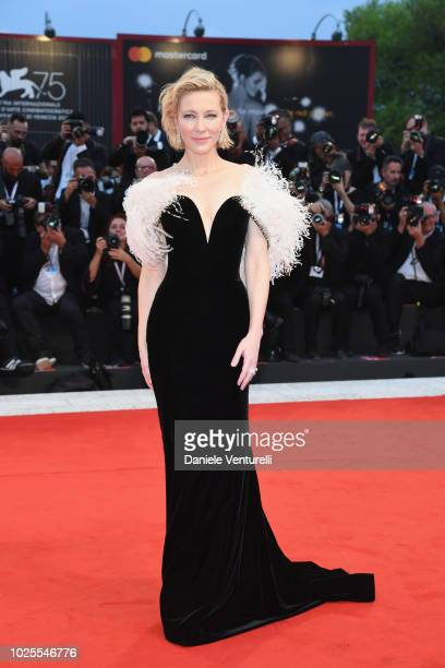Cate Blanchett walks the red carpet ahead of the 'A Star Is Born' screening during the 75th Venice Film Festival at Sala Grande on August 31 2018 in...