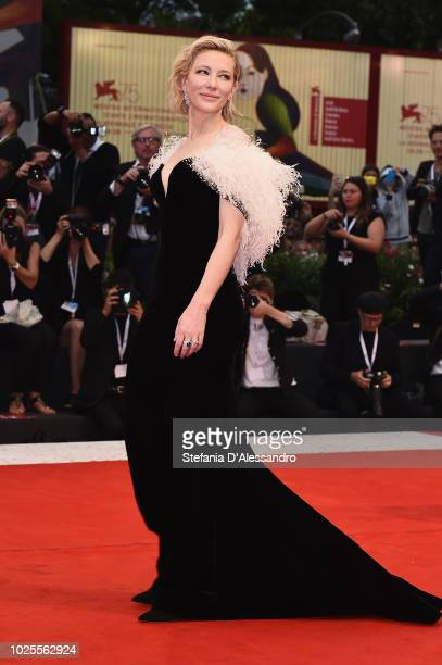 Cate Blanchett walks the red carpet ahead of the 'A Star Is Born' screening during the 75th Venice Film Festival at Sala Grande on August 31, 2018 in...