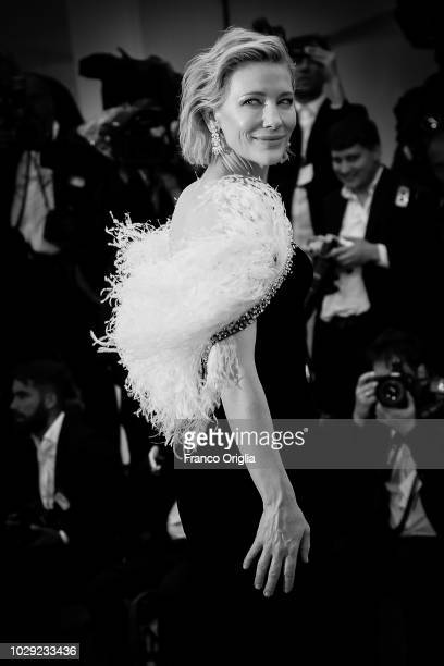 Cate Blanchett walks the red carpet ahead of the 'A Star Is Born' screening during the 75th Venice Film Festival on August 31 2018 in Venice Italy