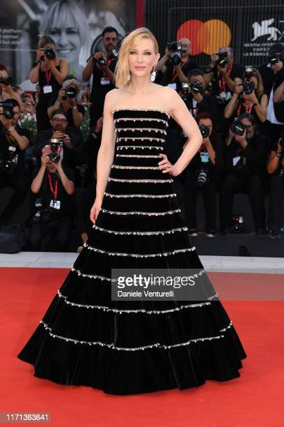 """Cate Blanchett walks the red carpet ahead of the """"Joker"""" screening during the 76th Venice Film Festival at Sala Grande on August 31, 2019 in Venice,..."""