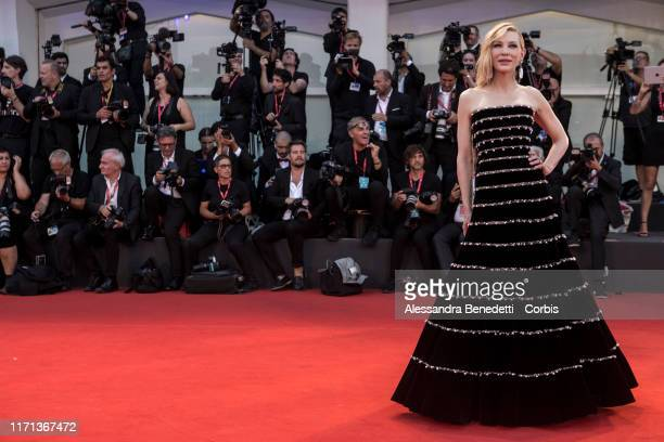 Cate Blanchett walks the red carpet ahead of the Joker screening during the 76th Venice Film Festival at Sala Grande on August 31 2019 in Venice Italy
