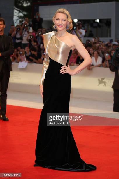 Cate Blanchett walks the red carpet ahead of the 'Suspiria' screening during the 75th Venice Film Festival at Sala Grande on September 1 2018 in...