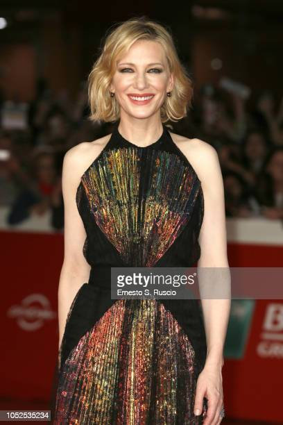 Cate Blanchett walks the red carpet ahead of the The House With A Clock In Its Walls screening during the 13th Rome Film Fest at Auditorium Parco...