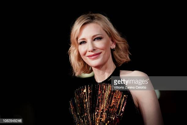 Cate Blanchett walks the red carpet ahead of the 'The House With A Clock In Its Walls' screening during the 13th Rome Film Fest at Auditorium Parco...