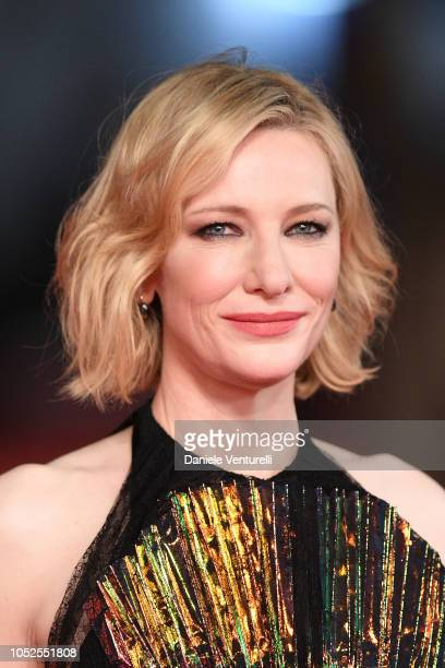 """Cate Blanchett walks the red carpet ahead of the """"The House With A Clock In Its Walls"""" screening during the 13th Rome Film Fest at Auditorium Parco..."""