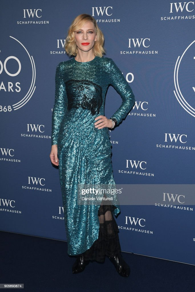 Cate Blanchett walks the red carpet for IWC Schaffhausen at SIHH 2018 on January 16, 2018 in Geneva, Switzerland.