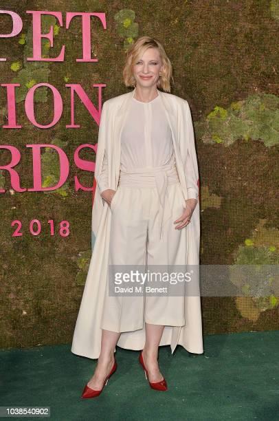 Cate Blanchett, wearing Stella Mccartney, attends The Green Carpet Fashion Awards Italia 2018 at Teatro Alla Scala on September 23, 2018 in Milan,...
