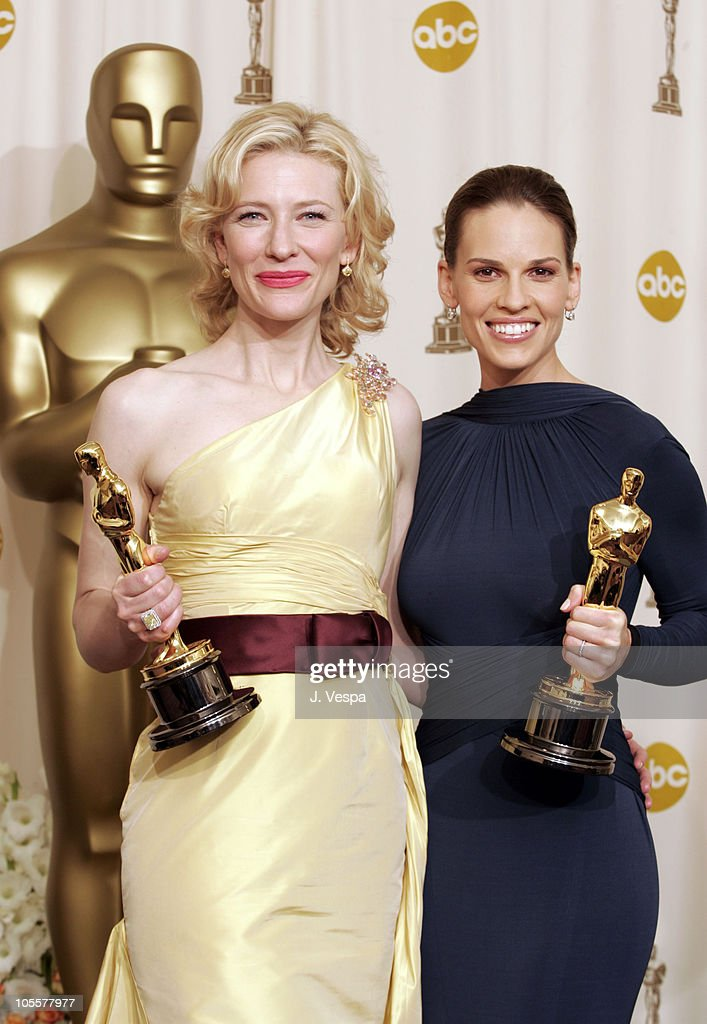 Cate Blanchett, winner Best Actress in a Supporting Role for 'The Aviator,' and Hilary Swank, winner Best Actress in a Leading Role for 'Million Dollar Baby'