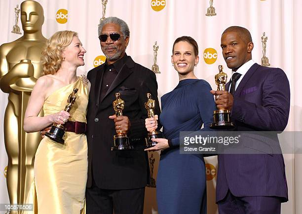Cate Blanchett winner Best Actress in a Supporting Role for 'The Aviator' Morgan Freeman winner Best Actor in a Supporting Role for 'Million Dollar...