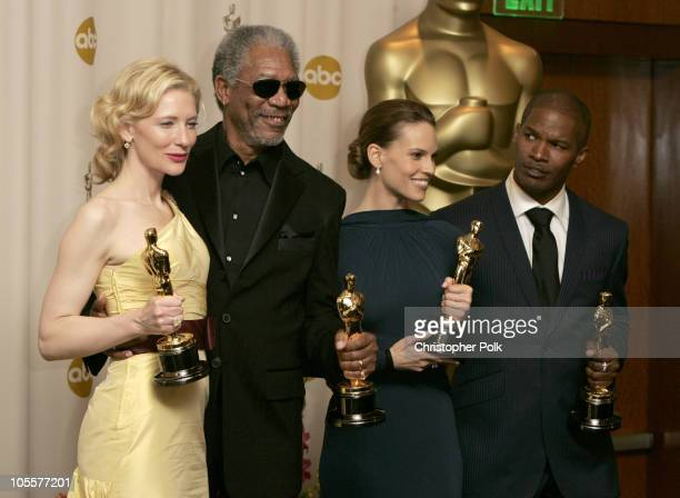 Cate Blanchett winner Best Actress in a Supporting Role for The Aviator Morgan Freeman winner Best Actor in a Supporting Role for Million Dollar Baby...