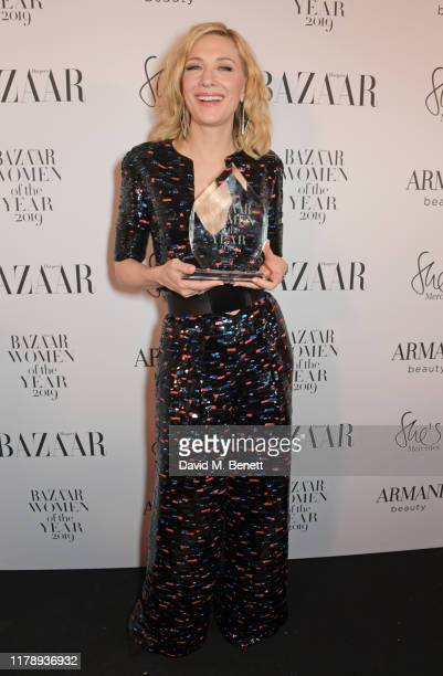 Cate Blanchett, winner Of The Philanthropy Award, attends the Harper's Bazaar Women of the Year Awards 2019, in partnership with Armani Beauty, at...