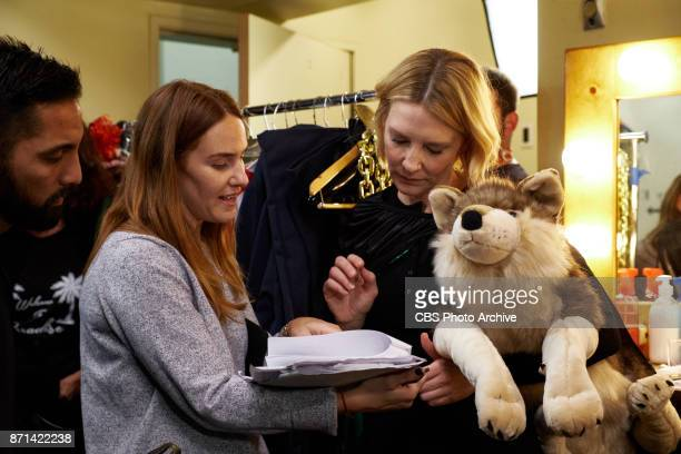 Cate Blanchett with producer Kate Presutti during production of Thor Live 4D during 'The Late Late Show with James Corden' Thursday November 2 2017...