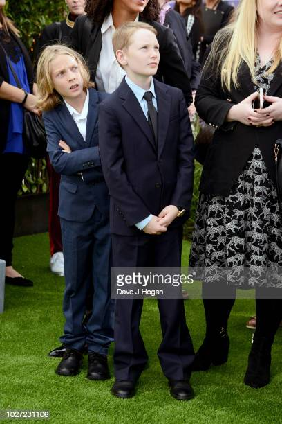 Cate Blanchett's son Ignatius Upton and guest attend the World Premiere of The House With The Clock In Its Walls at Westfield White City on September...