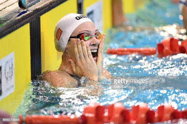 Cate Campbell breaks the World Record during the Australia Short Course Championships at SA Aquatic and Leisure Centre on October 26 2017 in Adelaide...