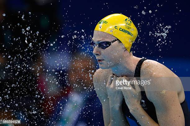 Cate Campbell of Australia prepares ahead of the Women's 50m Freestyle Final on Day 8 of the Rio 2016 Olympic Games at the Olympic Aquatics Stadium...
