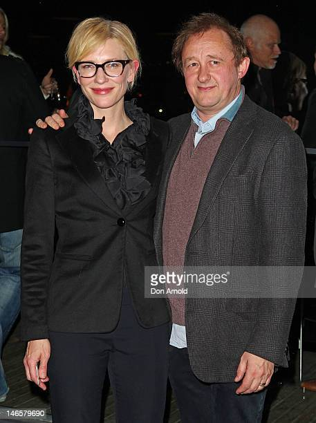 Cate Clanchett and Andrew Upton arrive at the opening night of The Histrionic at the Sydney Theatre Company June 20 2012 in Sydney Australia