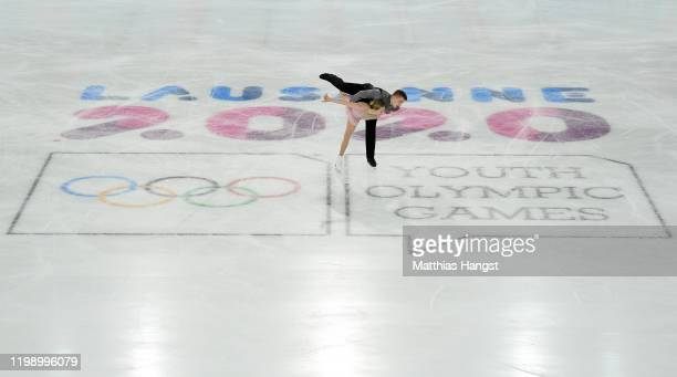 Cate Fleming and Jedidah Isbell of USA compete in Pair Skating Free Skating during day 3 of the Lausanne 2020 Winter Youth Olympics on January 12,...