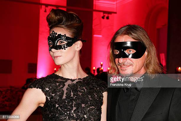 Cate Martin and Frank Otto attend the Bal Masque 2016 on February 20 2016 in Hamburg Germany