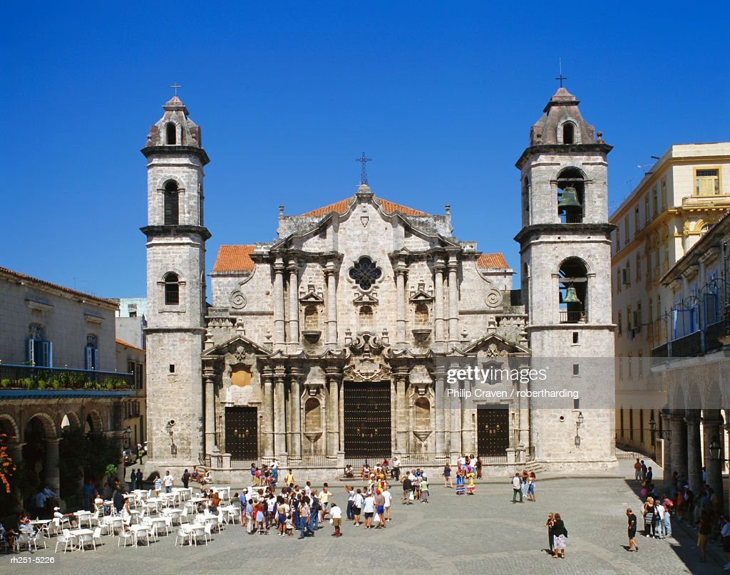Catedral de la Havana, the Cathedral in Old Havana, Cuba : Foto de stock