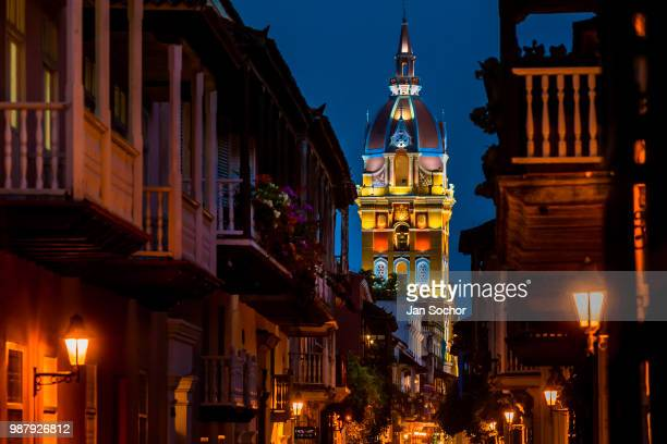 Catedral de Santa Catalina de Alejandría is seen during the twilight on December 11 2017 in Cartagena Colombia After the peace agreement ending a...