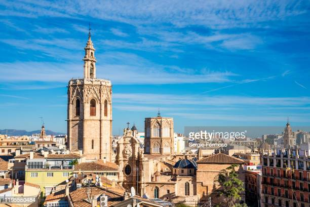 catedral de valencia, comunitat valenciana, spain - valencia spain stock pictures, royalty-free photos & images